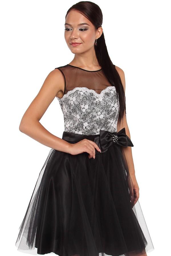 Rochie eleganta Veronica R 696 negru