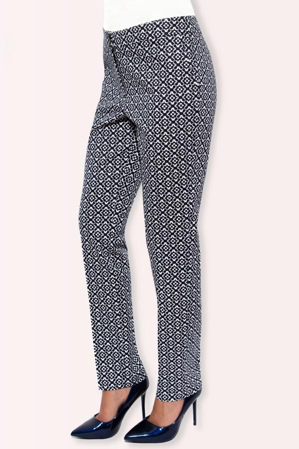 Pantalon casual Brandusa P 105 bleumarin