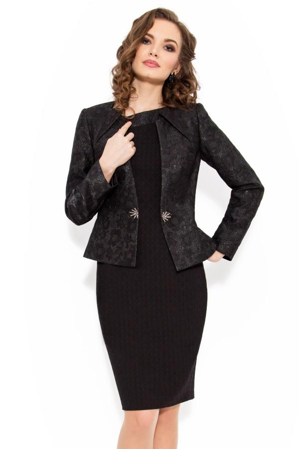 Costum cu rochie 9331 negru