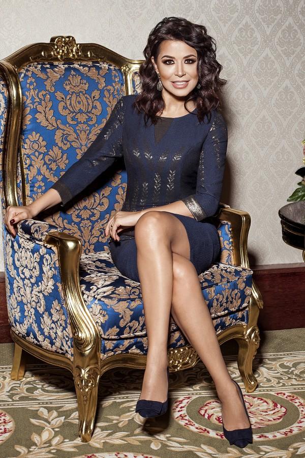 Rochie eleganta R 963 bleumarin
