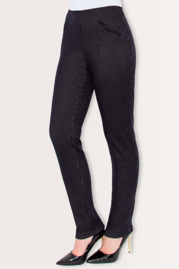 Pantalon casual Noelia P 114 bleumarin