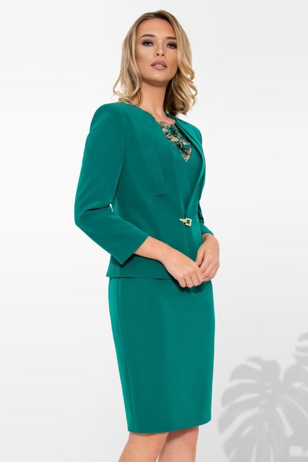 Costum cu rochie 9337 verde