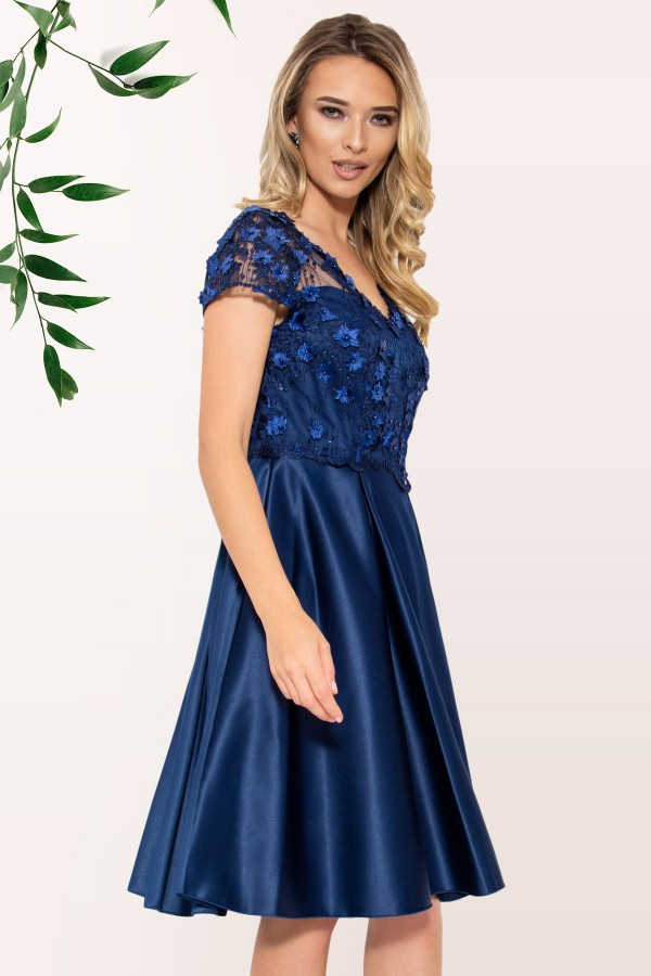 Rochie eleganta R 009 bleumarin