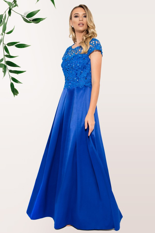 Rochie lunga R 999 albastru