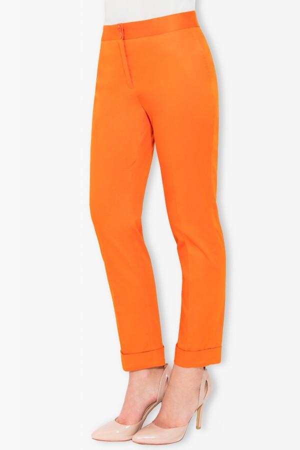 Pantalon casual P 104 portocaliu