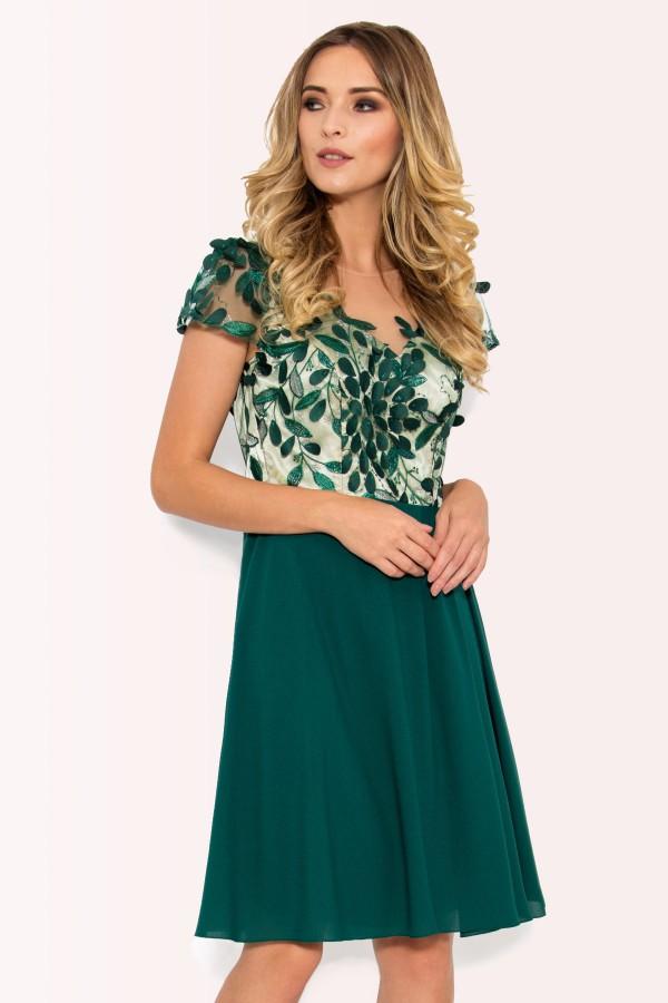 Rochie eleganta R 027 verde
