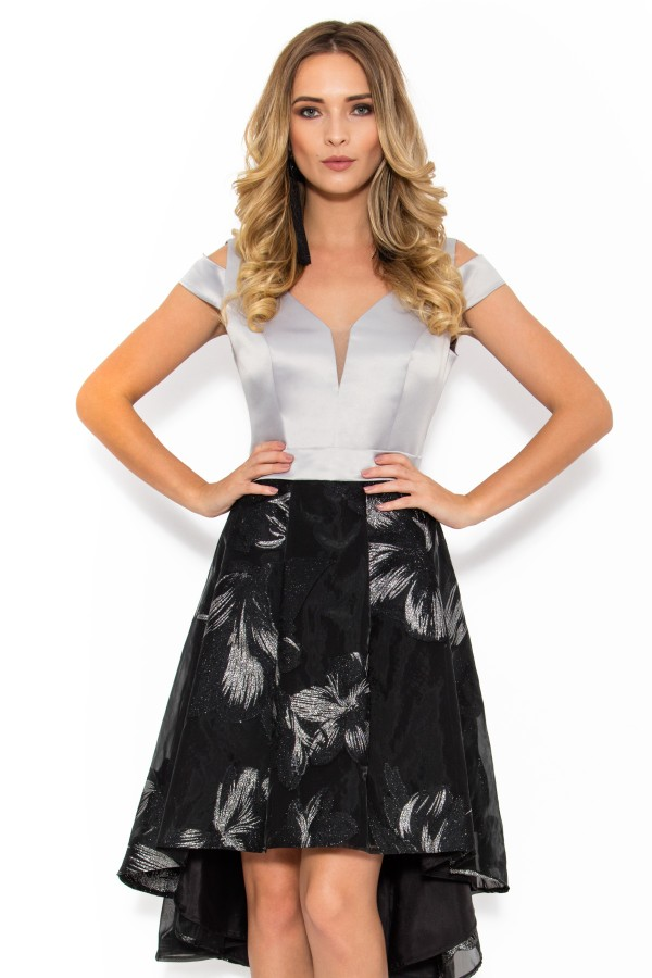 Rochie eleganta R 036 gri