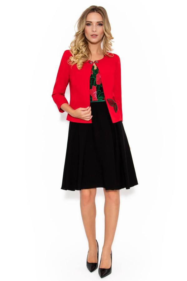 Costum cu rochie Rosalia 9350 rosu