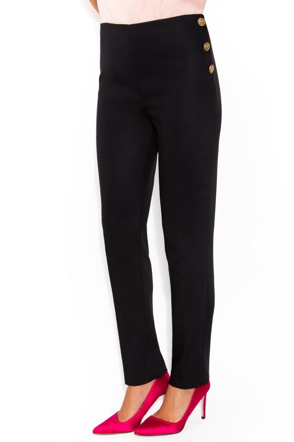 Pantalon casual Dorothea P 116 negru