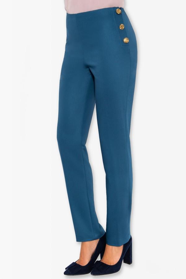 Pantalon casual Dorothea P 116 bleumarin