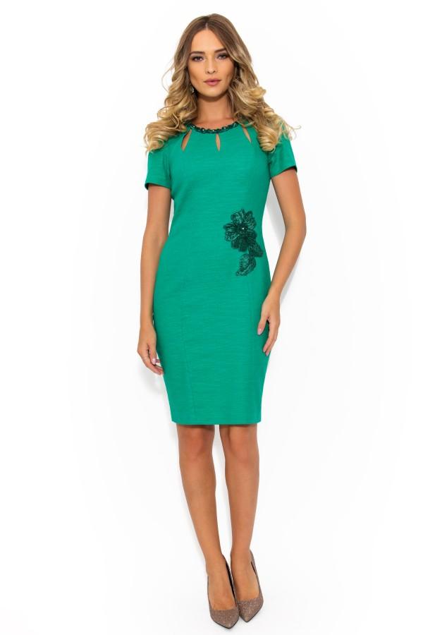 Costum cu rochie Kasia 9343 verde
