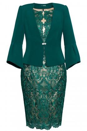 Costum cu rochie 9354 verde