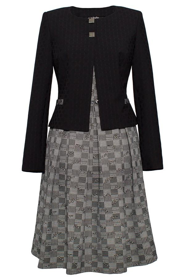 Costum cu rochie Petra 9358 negru