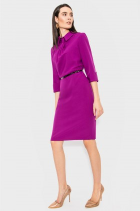 Rochie casual-office R 064 ciclam