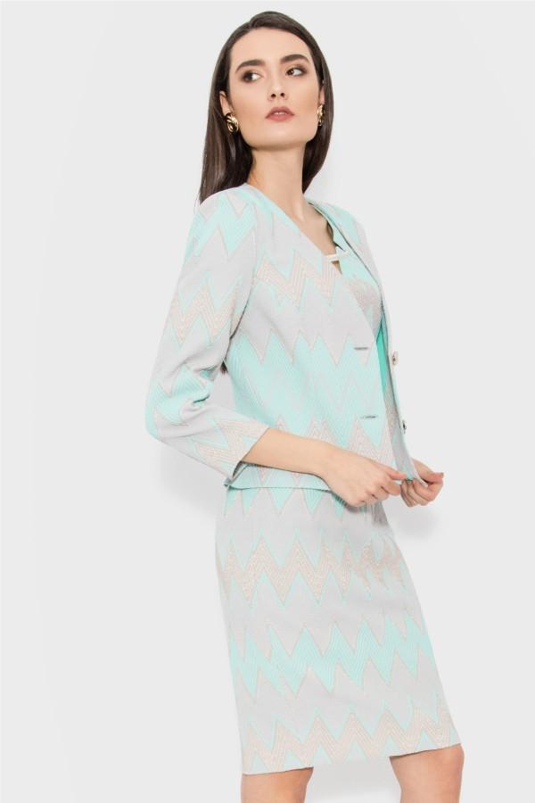 Costum cu rochie 9367 turcoaz