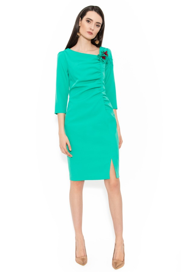 Rochie elegant Paloma verde