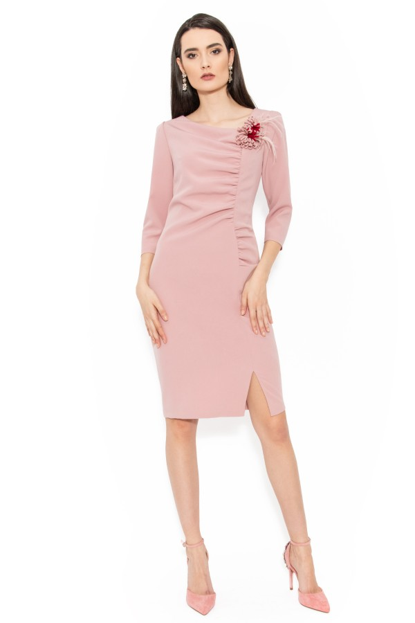 Rochie eleganta Paloma roz