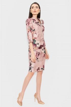 Costum cu fusta Serena 1451 brocard floral