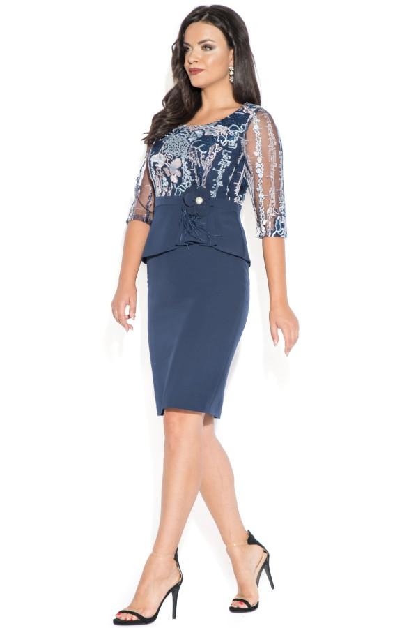 Rochie eleganta Glory bleu