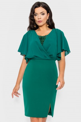 Rochie eleganta R 154 verde