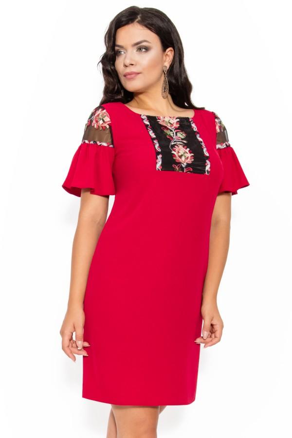 Rochie casual Tessa rosu