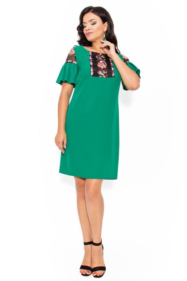Rochie casual Tessa verde