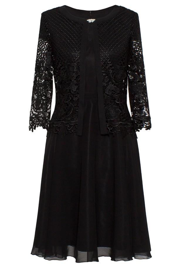 Costum cu rochie 9378 dantela neagra