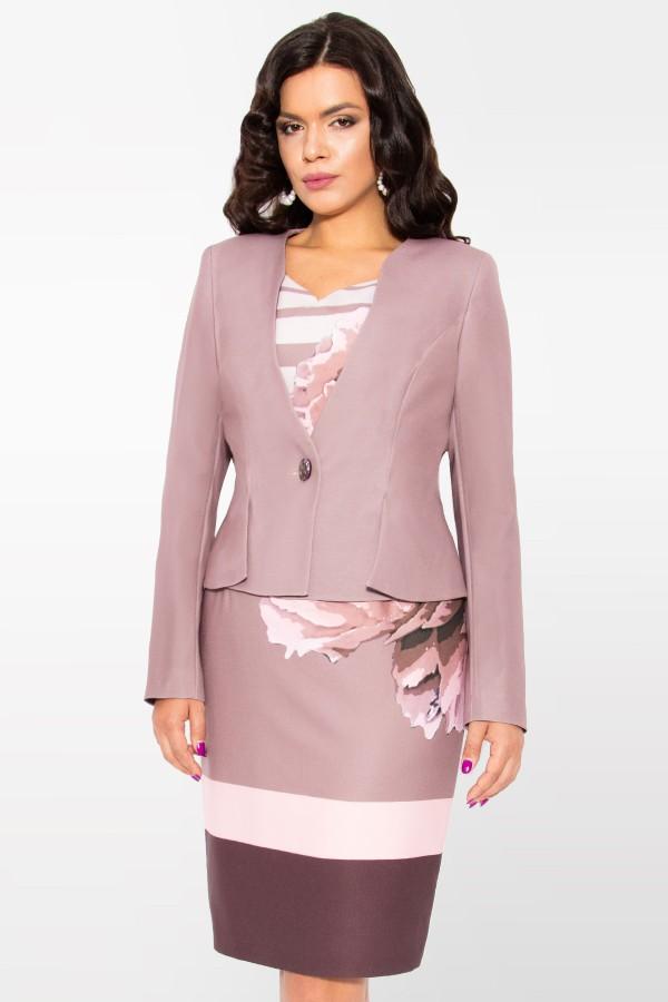 Costum cu rochie Pandora 9386 roz