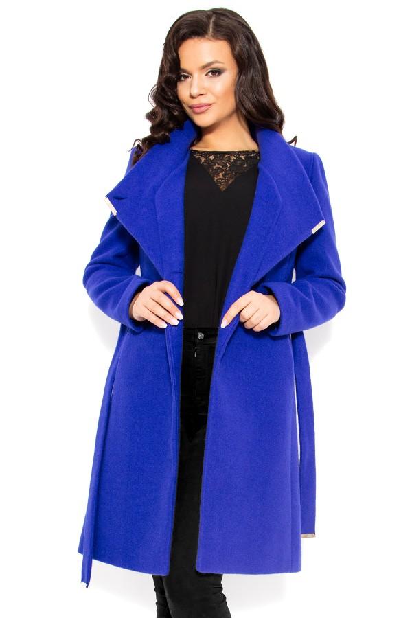Mantou din stofa cu lana 7253 albastru