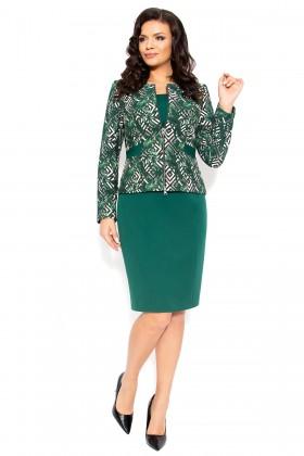 Costum cu rochie Kate 9382 verde