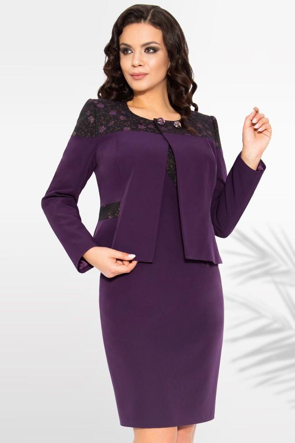Costum cu rochie Violeta 9384 mov