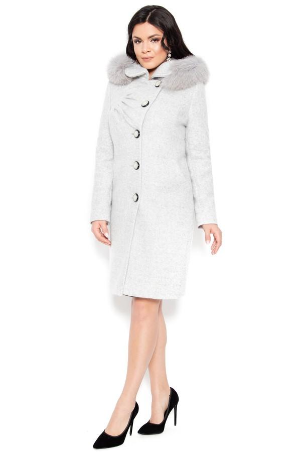 Palton din stofa Electra gri