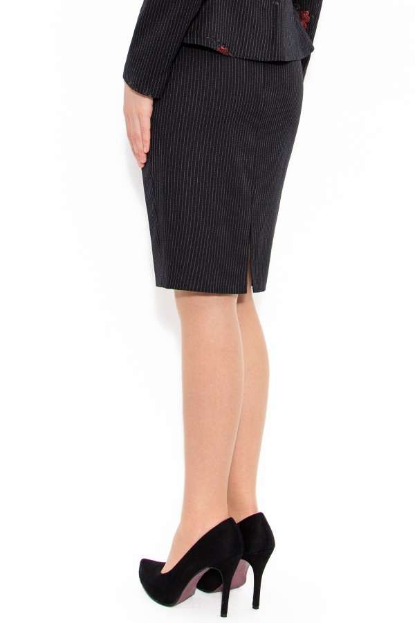 Fusta casual-office 1437 negru