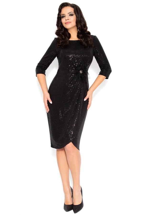 Rochie eleganta R 218 neagra