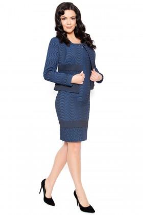 Costum cu rochie 9393 bleumarin