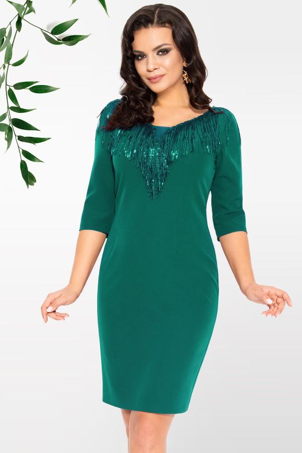 Rochie eleganta R 226 verde
