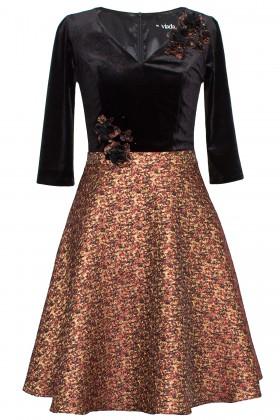 Rochie eleganta R 246 negru
