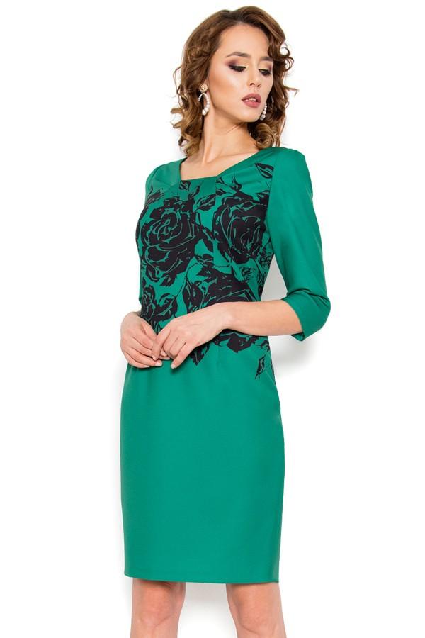 Rochie casual Gratiela verde
