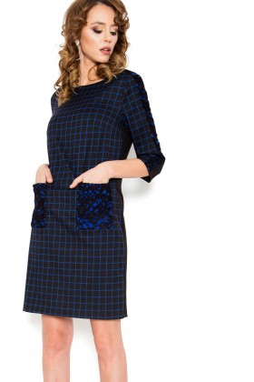 Rochie casual R 230 albastra