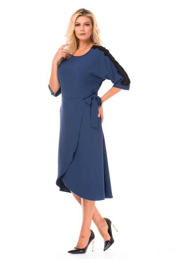 Rochie casual R 1647 albastru