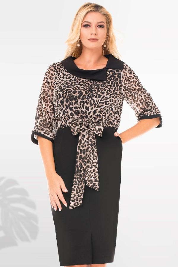 Rochie casual R 9511 negru