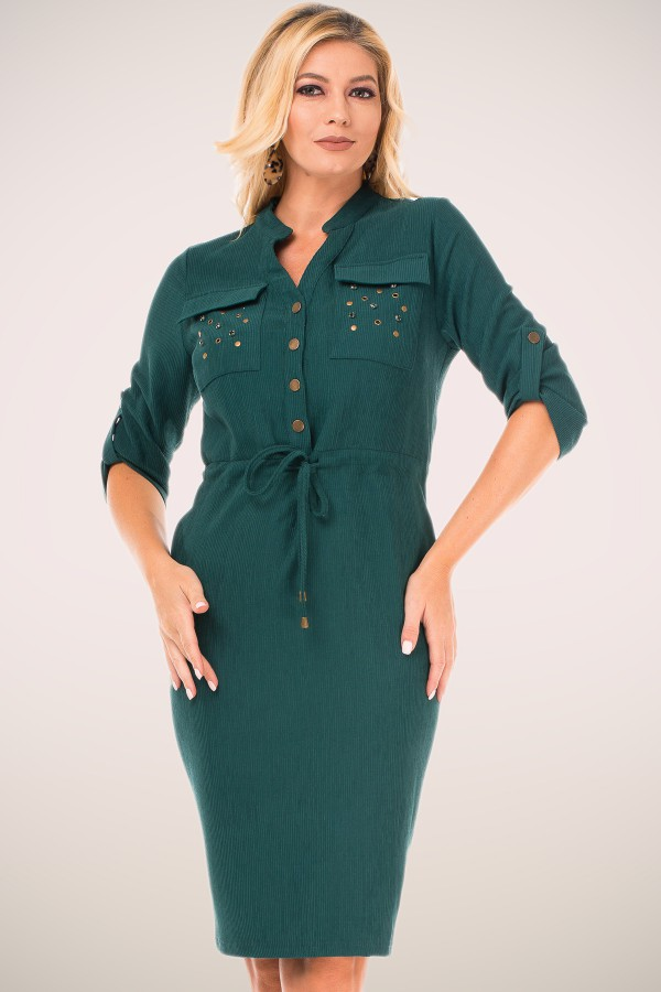 Rochie casual R 9507 verde