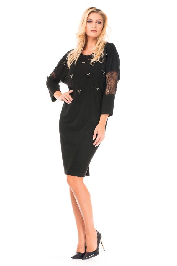 Rochie casual R 8233 negru