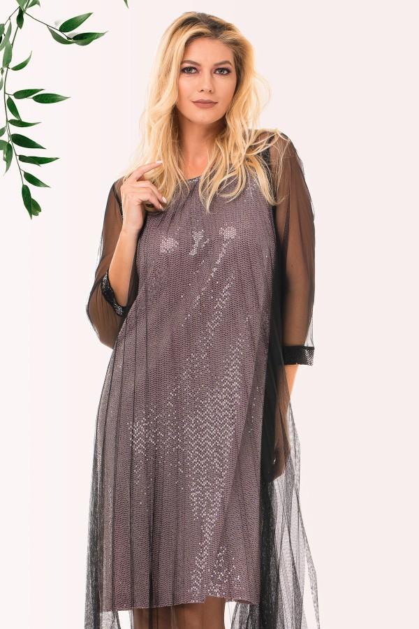Rochie eleganta R 90035 negru