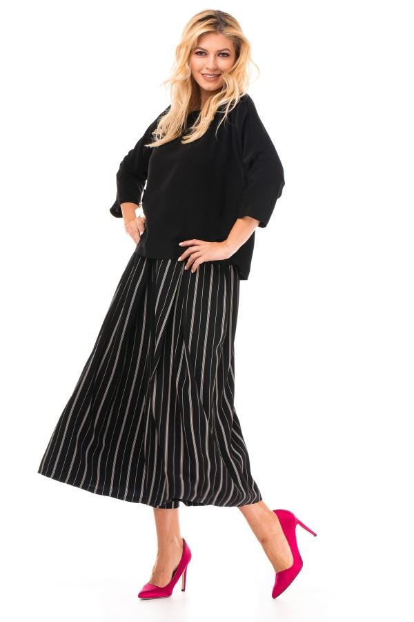 Bluza casual B 6509 neagra