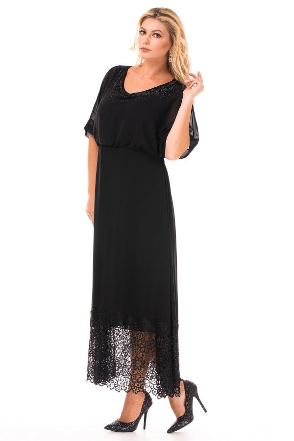 Rochie eleganta R 39404 neagra