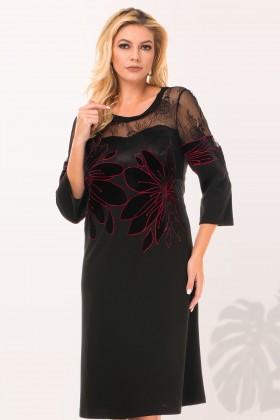Rochie casual R 3007 negru