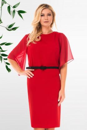 Rochie eleganta R 40560 rosu