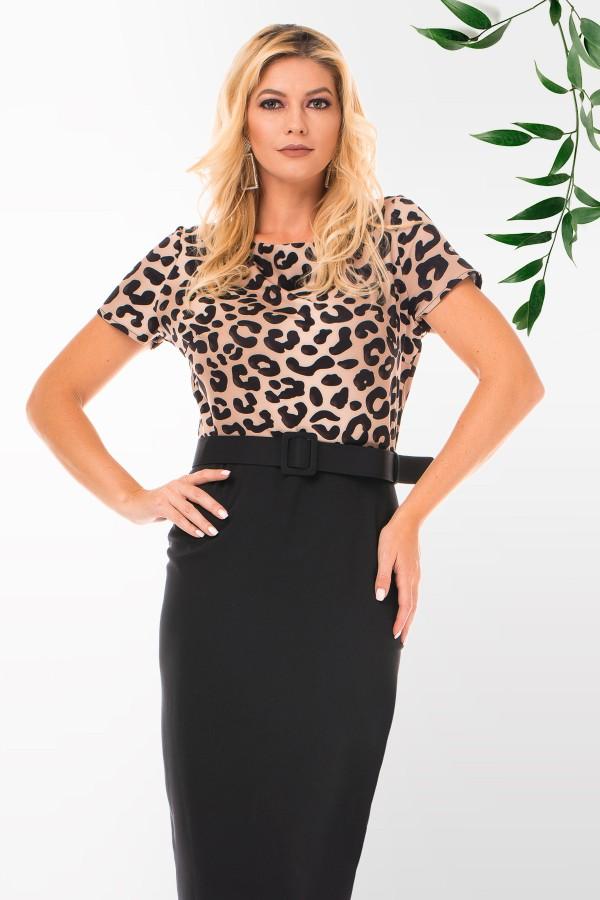 Rochie casual R 60514 leopard