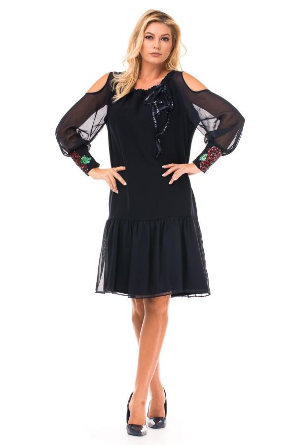 Rochie eleganta R 90029 negru